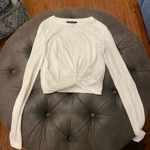 Forever 21 Long Sleeve knotted Top